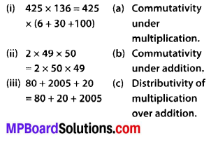 MP Board Class 6th Maths Solutions Chapter 2 Whole Numbers Ex 2.2 1