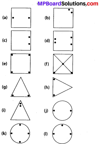 MP Board Class 7th Maths Solutions Chapter 14 Symmetry Ex 14.1 1