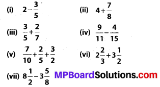 MP Board Class 7th Maths Solutions Chapter 2 Fractions and Decimals Ex 2.1 1