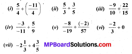 MP Board Class 7th Maths Solutions Chapter 9 Rational Numbers Ex 9.2 1