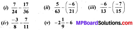 MP Board Class 7th Maths Solutions Chapter 9 Rational Numbers Ex 9.2 5