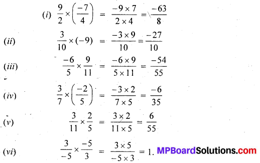 MP Board Class 7th Maths Solutions Chapter 9 Rational Numbers Ex 9.2 9