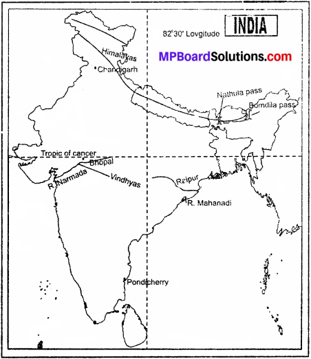 MP Board Class 9th Social Science Solutions Chapter 3 India Location and Physical Divisions - 5