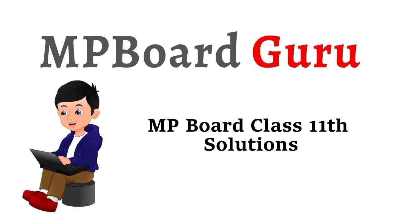 MP Board Class 11th Solutions