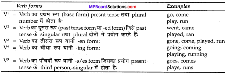 MP Board Class 8th Special English Grammar Time and Tense 2