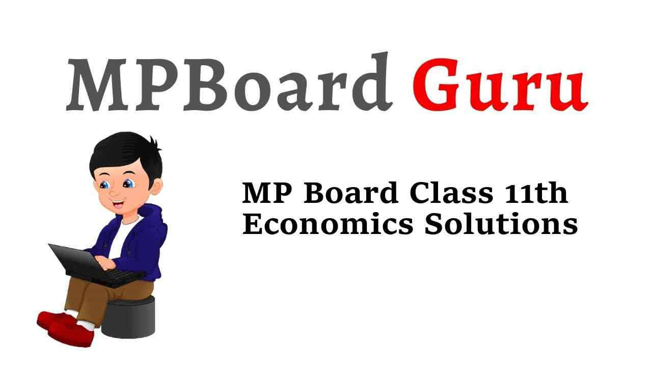 MP Board Class 11th Economics Important Questions with Answers