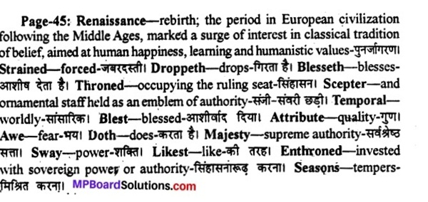 MP Board Class 11th English A Voyage Solutions Chapter 7 Mercy 2