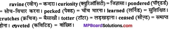 MP Board Class 11th English The Spectrum Solutions Chapter 17 A Grain as Big as a Hen's Egg 1