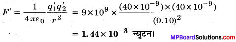 MP Board Class 12th Physics Important Questions Chapter 1 वैद्युत आवेश तथा क्षेत्र 37
