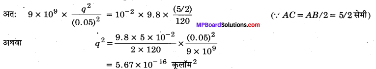 MP Board Class 12th Physics Important Questions Chapter 1 वैद्युत आवेश तथा क्षेत्र 46