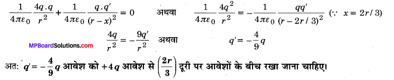 MP Board Class 12th Physics Important Questions Chapter 1 वैद्युत आवेश तथा क्षेत्र 52