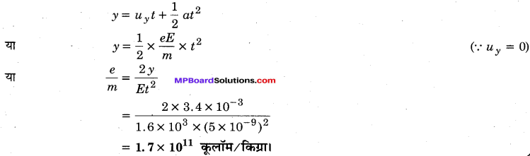 MP Board Class 12th Physics Important Questions Chapter 1 वैद्युत आवेश तथा क्षेत्र 73