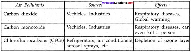 MP Board Class 8th Science Solutions Chapter 18 Pollution of Air and Water 2