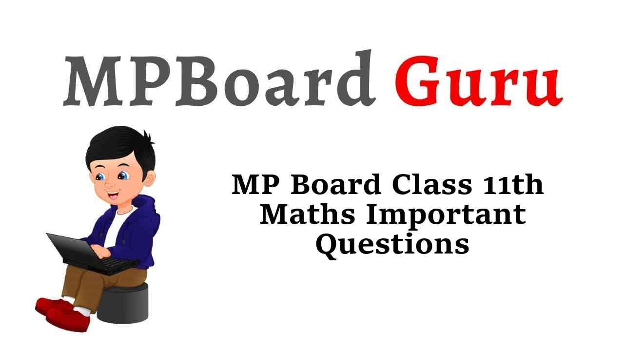 MP Board Class 11th Maths Important Questions with Answers