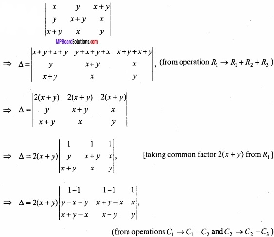 MP Board Class 12th Maths Important Questions Chapter 4 Determinants