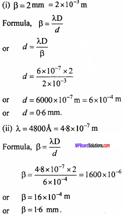 MP Board 12th Physics Important Questions Chapter 10 Wave Optics 22