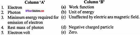 MP Board 12th Physics Important Questions Chapter 11 Dual Nature of Radiation and Matter 1