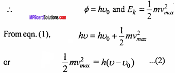 MP Board 12th Physics Important Questions Chapter 11 Dual Nature of Radiation and Matter 8