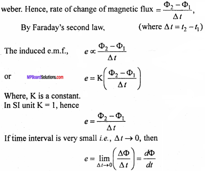 MP Board 12th Physics Important Questions Chapter 6 Electromagnetic Induction 7