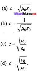 MP Board 12th Physics Important Questions Chapter 8 Electromagnetic Waves 1