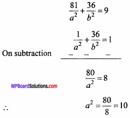 MP Board Class 11th Maths Important Questions Chapter 11 Conic Sections 11