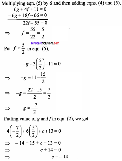 MP Board Class 11th Maths Important Questions Chapter 11 Conic Sections 5