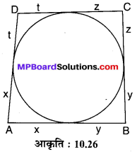 MP Board Class 10th Maths Solutions Chapter 10 वृत्त Additional Questions 10