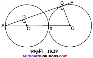 MP Board Class 10th Maths Solutions Chapter 10 वृत्त Additional Questions 13