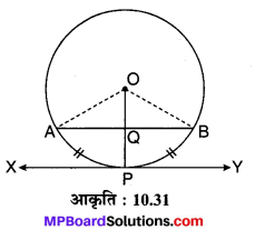 MP Board Class 10th Maths Solutions Chapter 10 वृत्त Additional Questions 16