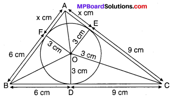 MP Board Class 10th Maths Solutions Chapter 10 वृत्त Additional Questions 22