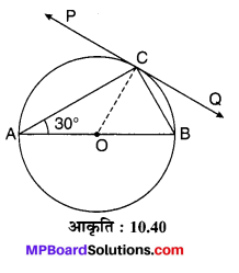 MP Board Class 10th Maths Solutions Chapter 10 वृत्त Additional Questions 25
