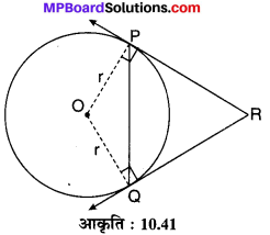 MP Board Class 10th Maths Solutions Chapter 10 वृत्त Additional Questions 26