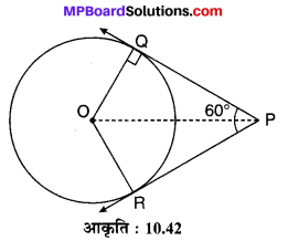 MP Board Class 10th Maths Solutions Chapter 10 वृत्त Additional Questions 27