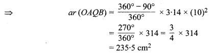 MP Board Class 10th Maths Solutions Chapter 12 वृतों से संबंधित क्षेत्रफल Ex 12.2 3