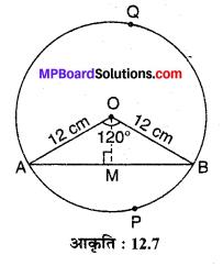 MP Board Class 10th Maths Solutions Chapter 12 वृतों से संबंधित क्षेत्रफल Ex 12.2 6
