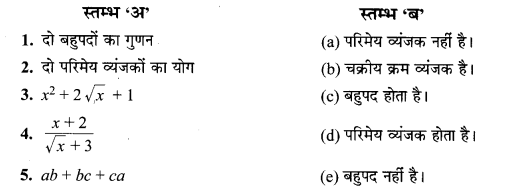 MP Board Class 10th Maths Solutions Chapter 2 बहुपद Additional Questions 17