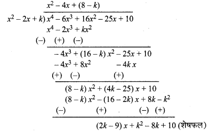 MP Board Class 10th Maths Solutions Chapter 2 बहुपद Ex 2.4 7