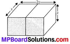 MP Board Class 10th Maths Solutions Chapter 13 Surface Areas and Volumes Ex 13.1 1