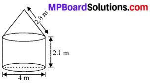 MP Board Class 10th Maths Solutions Chapter 13 Surface Areas and Volumes Ex 13.1 11