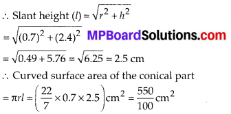 MP Board Class 10th Maths Solutions Chapter 13 Surface Areas and Volumes Ex 13.1 14
