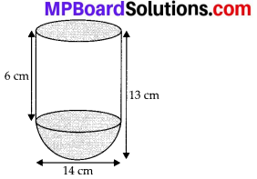 MP Board Class 10th Maths Solutions Chapter 13 Surface Areas and Volumes Ex 13.1 2