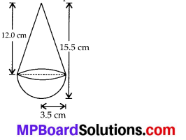 MP Board Class 10th Maths Solutions Chapter 13 Surface Areas and Volumes Ex 13.1 3