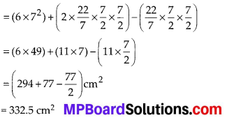 MP Board Class 10th Maths Solutions Chapter 13 Surface Areas and Volumes Ex 13.1 5