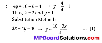 MP Board Class 10th Maths Solutions Chapter 3 Pair of Linear Equations in Two Variables Ex 3.4 3