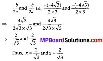 MP Board Class 10th Maths Solutions Chapter 4 Quadratic Equations Ex 4.4 2