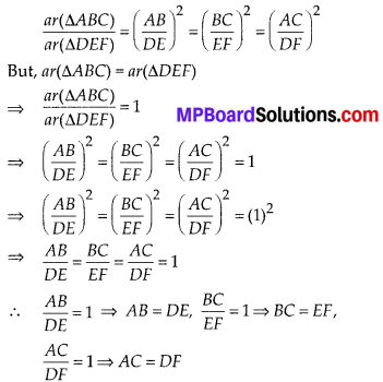 MP Board Class 10th Maths Solutions Chapter 6 Triangles Ex 6.4 7