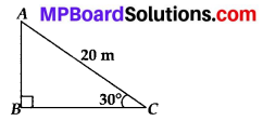 MP Board Class 10th Maths Solutions Chapter 9 Some Applications of Trigonometry Ex 9.1 1