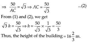 MP Board Class 10th Maths Solutions Chapter 9 Some Applications of Trigonometry Ex 9.1 12