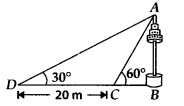 MP Board Class 10th Maths Solutions Chapter 9 Some Applications of Trigonometry Ex 9.1 15