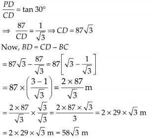 MP Board Class 10th Maths Solutions Chapter 9 Some Applications of Trigonometry Ex 9.1 21